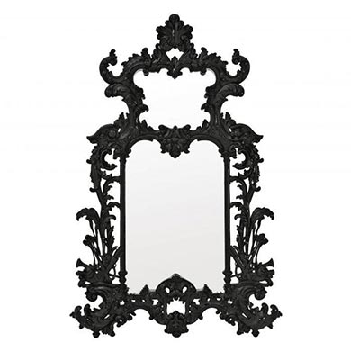 A Decorative Black Mirror